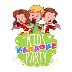 43416469-cartoon-kinder-singen-mit-einem-mikrofon-logo-vorlage-für-kinder-karaoke-party-vector-klippkunstabbildung